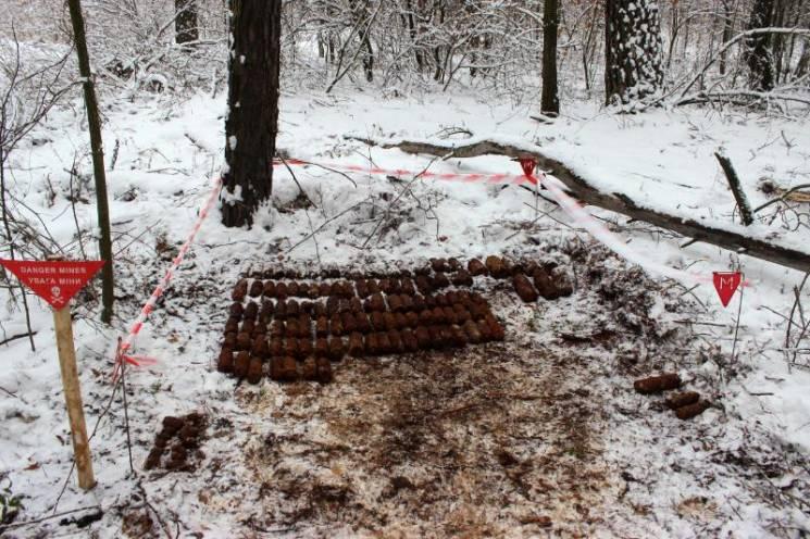 На Київщині знайшли цілий арсенал боєприпасів (ФОТО)
