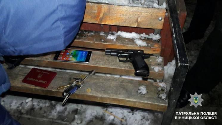 П'яний вінничанин погрожував жінці пістолетом