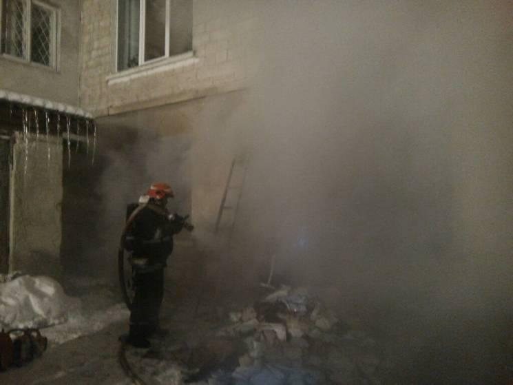 У Тернополі рятували дітей та дорослих з палаючої дитячої лікарні (ФОТО)