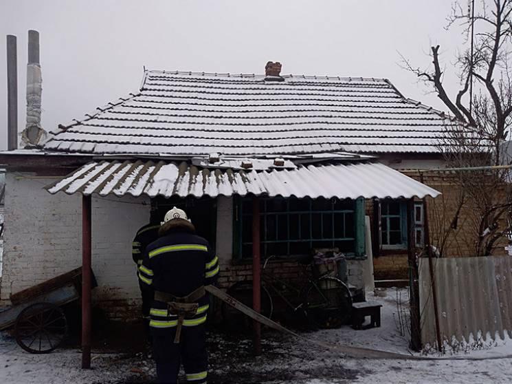 На Полтавщині горів житловий будинок, є постраждалий