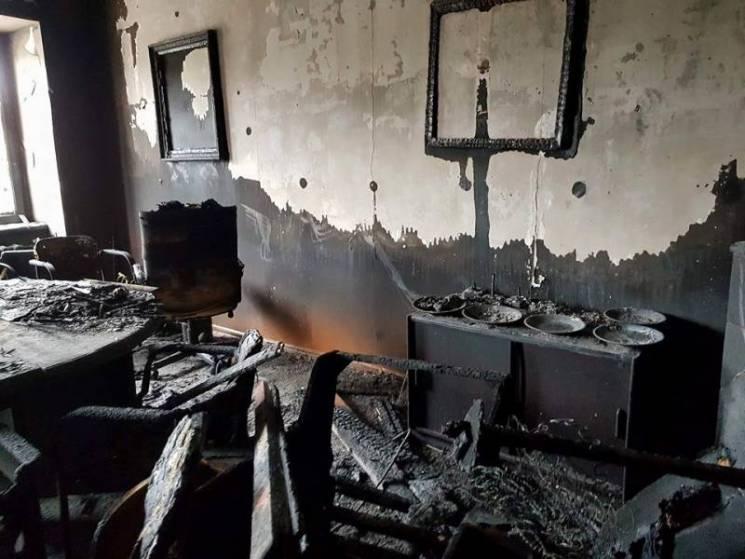 Як вибухнув і згорів офіс угорців в Ужгороді (ФОТО, ВІДЕО)