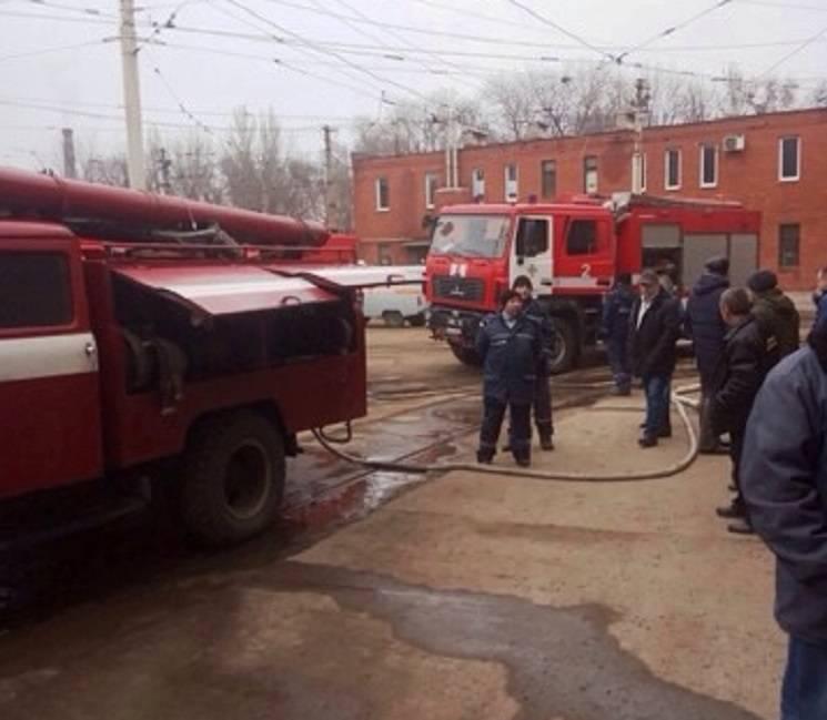 У Дніпрі сталася пожежа у трамвайному депо (ФОТО)