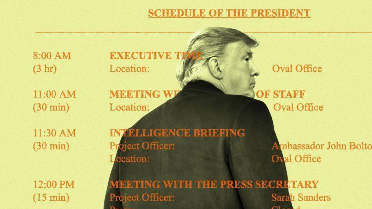 ЗМІ злили новий графік Трампа (ФОТО)