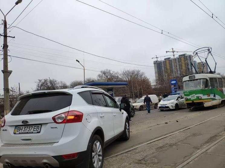 Через ДТП на Дальницькій зупинилися трамваї