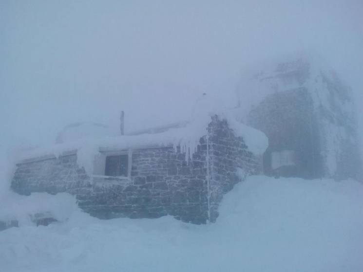 Зима в Карпатах: Как на горе Поп Иван бу…