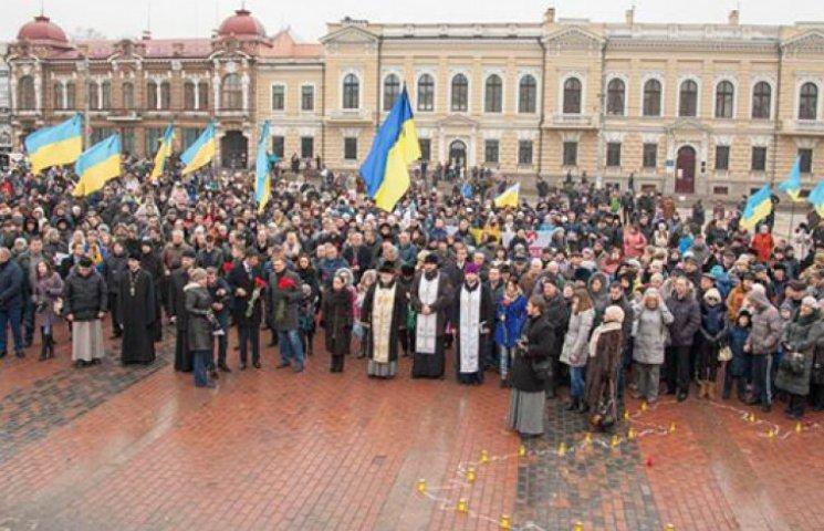 Вся Украина вышла на марши единства против терроризма