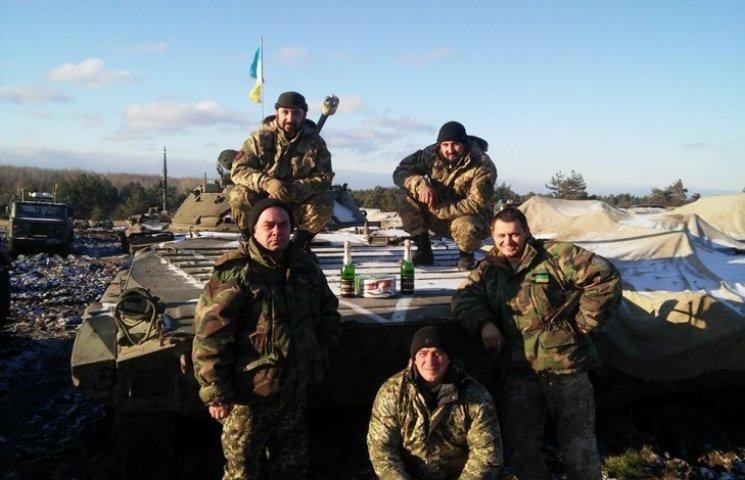 Бійці 128-ї бригади привітали всіх з новорічними святами
