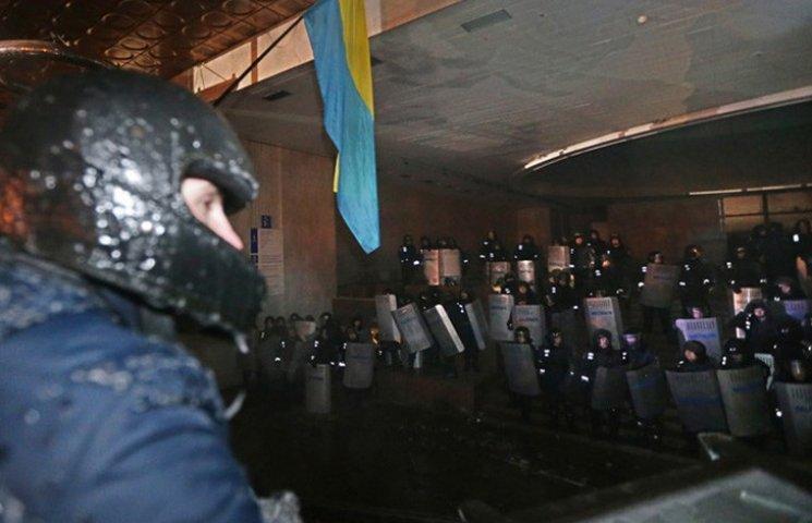Хроника Революции Достоинства: Захват протестующими Украинского дома