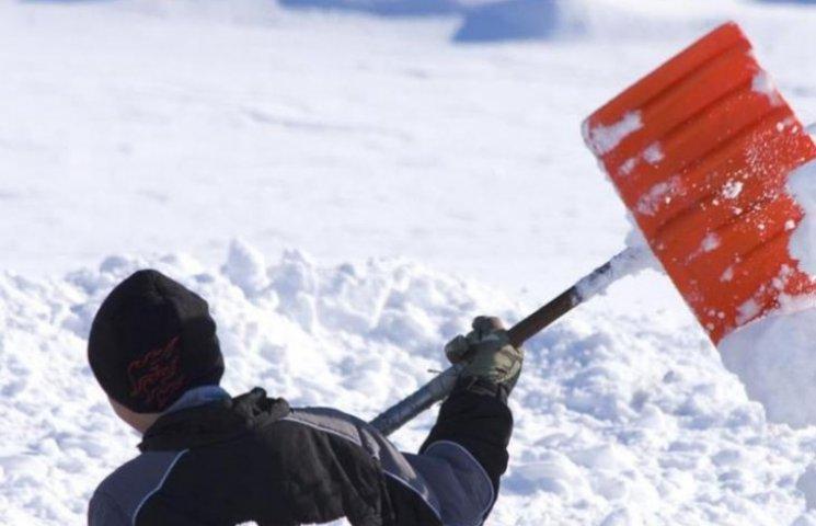 Ужгородцям нагадали, що треба прибирати сніг, інакше - штраф