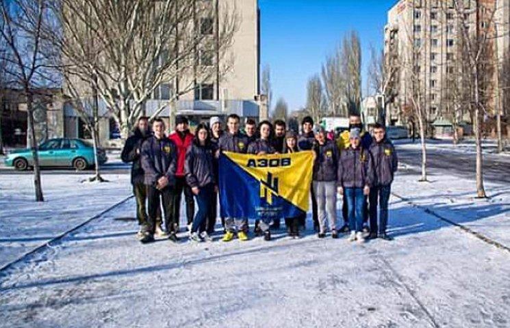 """Громадянський корпус """"Азов"""" провів у Бердянську святковий забіг"""