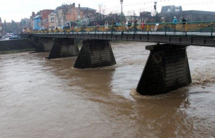 За ніч суттєво підвищився рівень води в Ужі, є загроза підтоплень у деяких районах