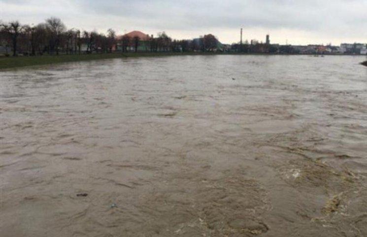 У Мукачеві фіксують пік паводкової хвилі, - офіційно