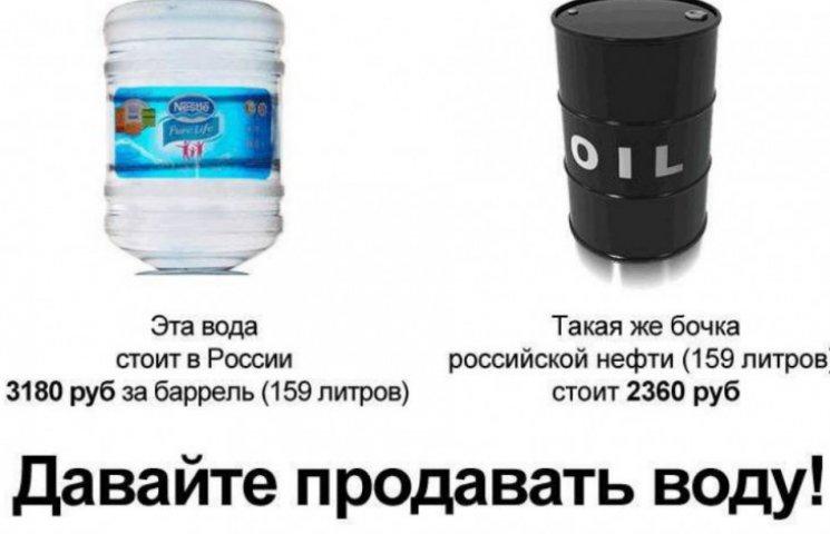 Російська нафта стала дешевшою за бутильовану воду (ІНФОГРАФІКА)
