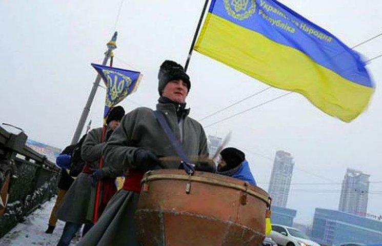 Відео дня: Живий ланцюг на День Соборності та гімн України в Давосі