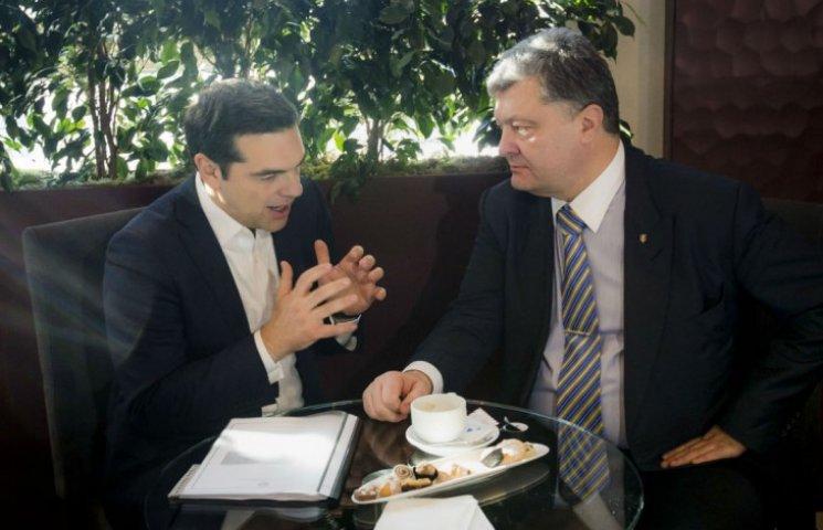 Ципрас пообещал Порошенко поддержать отмену виз для украинцев