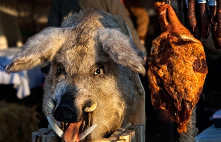 На фестивалі різників заборонили фотографувати вбивства свиней