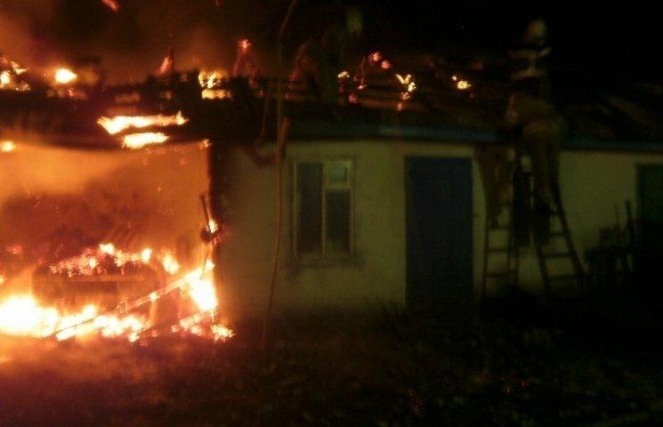 В новогоднюю ночь на Полтавщине горел дом
