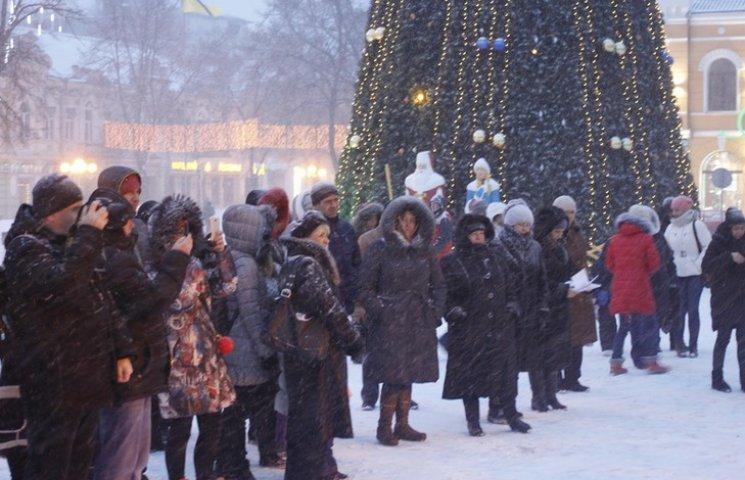 Найстійкіші полтавці святкували Різдво у Центрі міста