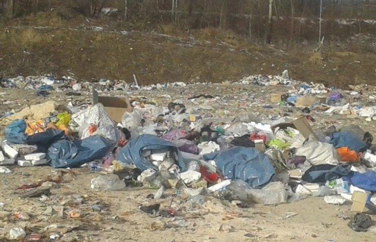 На Буковині облаштували сміттєзвалище у 200-х метрах від річки