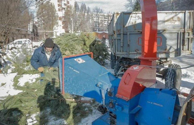 У Дніпрі новорічними ялинками опалюють водоканал