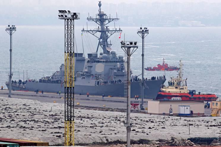 До Одеси завітав військовий есмінець НАТО з крилатими ракетами на борту (ФОТО)
