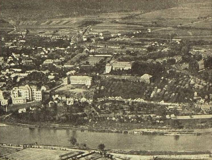 Унікальні кадри: Ужгород, знятий з висоти 95 років тому
