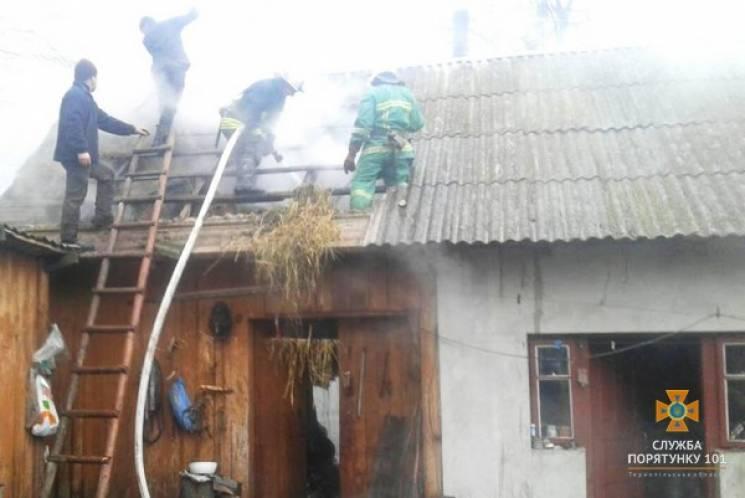 Тонни сіна знищила пожежа на Тернопільщині (ФОТО)