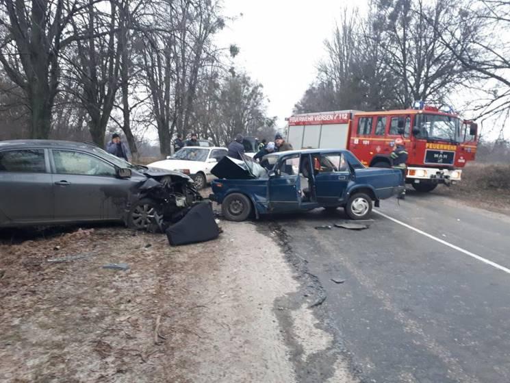 На Черкащині у ДТП постраждали шестеро людей