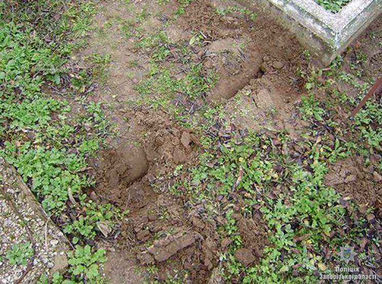 У Мелітополі затримали чоловіка, який розграбовував могили на кладовищі (ФОТО)