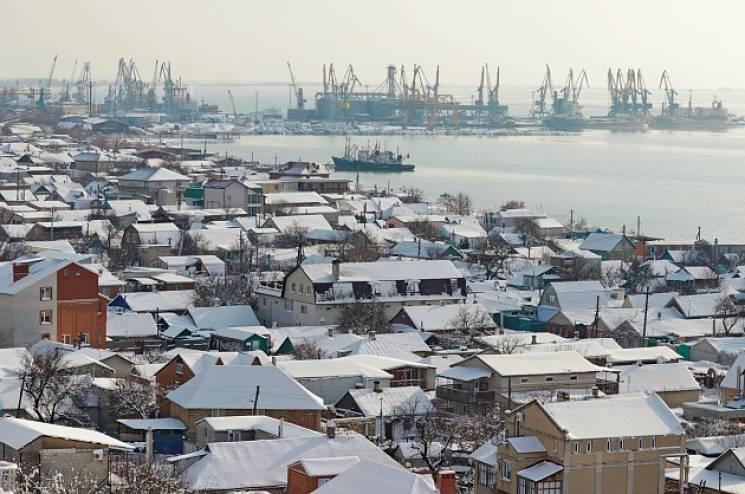 На запорожский курорт пришла сказочная зима (ФОТО)