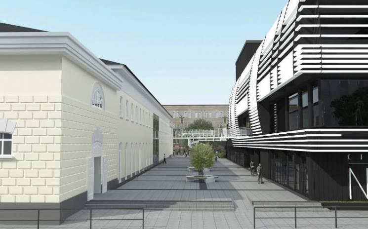 Бульвар и новый ТРЦ: на центральном проспекте Днепра реконструируют фабрику времён Империи. Новости Днепра