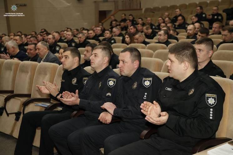 За розкритий злочин хмельниці патрульні отримали подяки