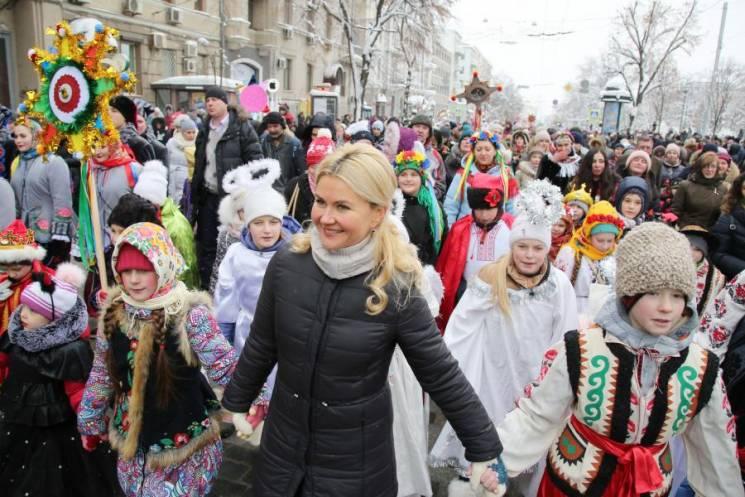 Серце України б'ється саме тут: Світлична привітали учасників Вертеп-фесту в Харкові (ФОТО)