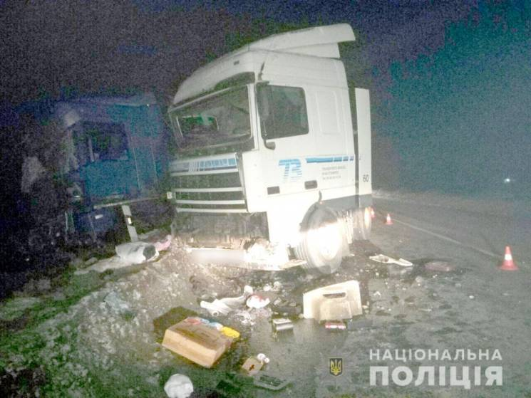 На Полтавщине столкнулись два грузовика,…