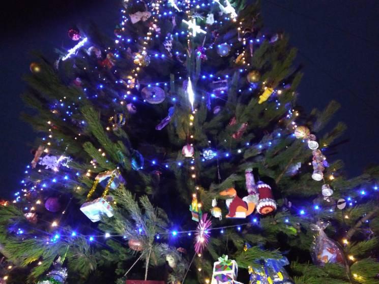 На головних площах Запорізької області прибирають новорічні ялинки (ФОТО)