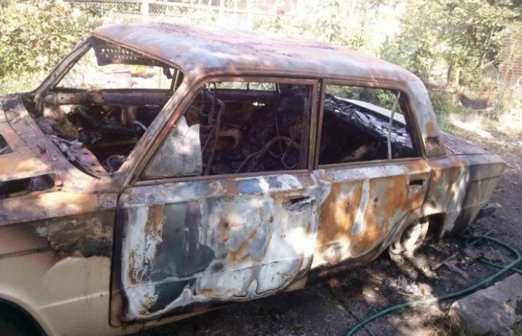 У Запорізькій області спалили авто коктейлем Молотова (ФОТО)