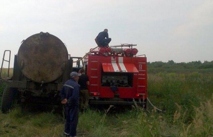 У Волочиському районі від пожежі врятували хлібне поле