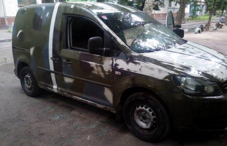 У Дніпропетровську пограбували волонтерське авто з допомогою для АТО (ФОТО)