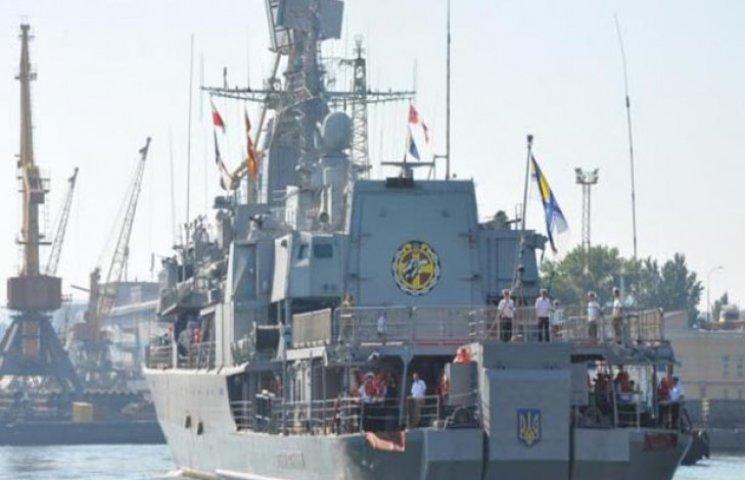 """Флагман """"Сагайдачний"""" повернувся в рідну одеську гавань після навчань"""