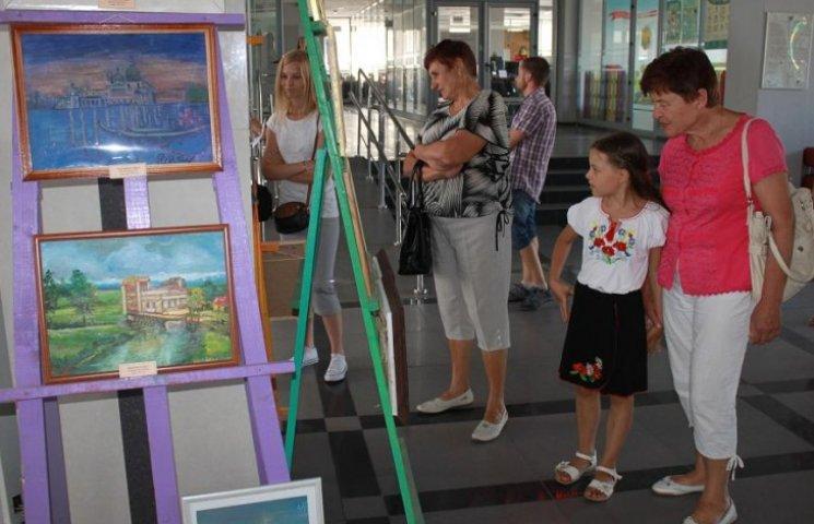 На виставці картин молодих архітекторів зібрані відомі будівлі області