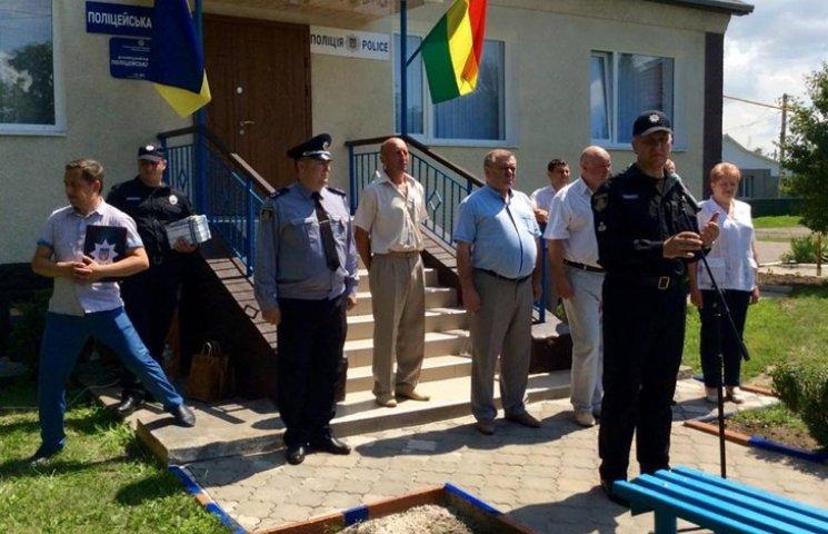 На Хмельнитчине открыли первую станцию патрульной службы