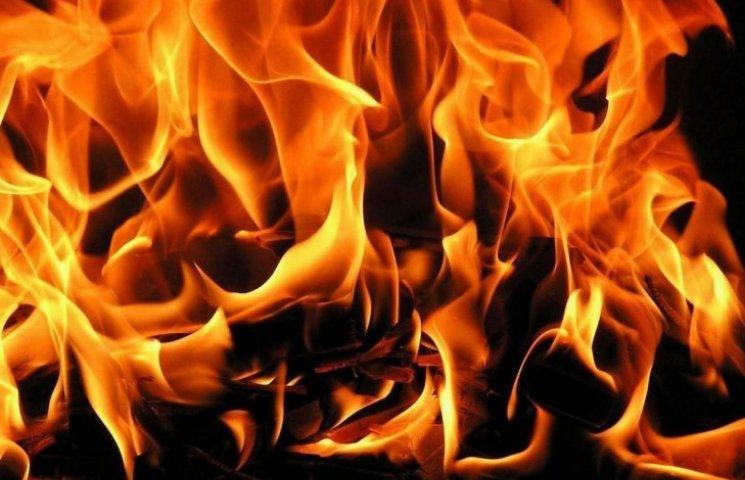 На Запоріжжі біля газової заправки спалахнула пожежа