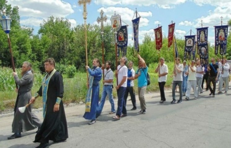 Проросійські віряни перекривали трасу Київ - Харків