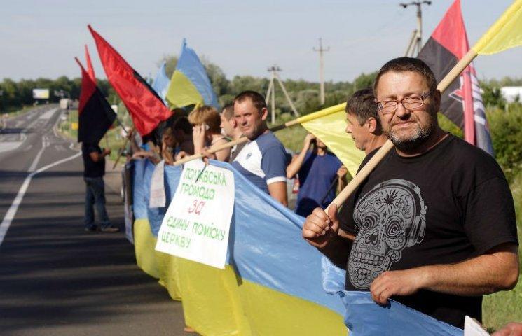 Як Хресну ходу з Донбасу на Полтавщині зустрічали