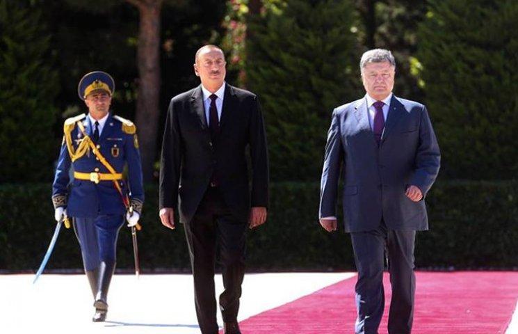 Як Порошенка зустрічали в Азербайджані