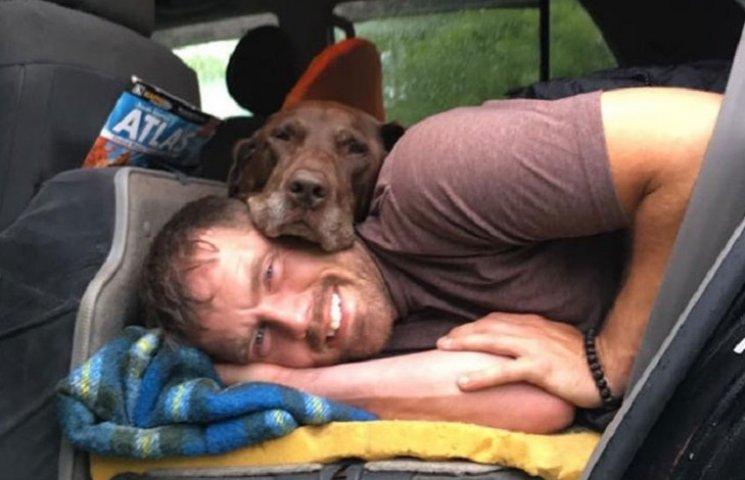 Как мужчина путешествует по миру с лабрадором без лапы, который умирает от рака