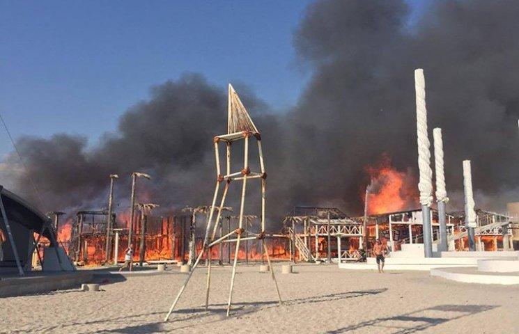 Как горел оккупированный КаZантип