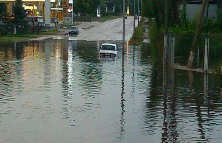 Як негода затопила Полтаву (ФОТО, ВІДЕО)