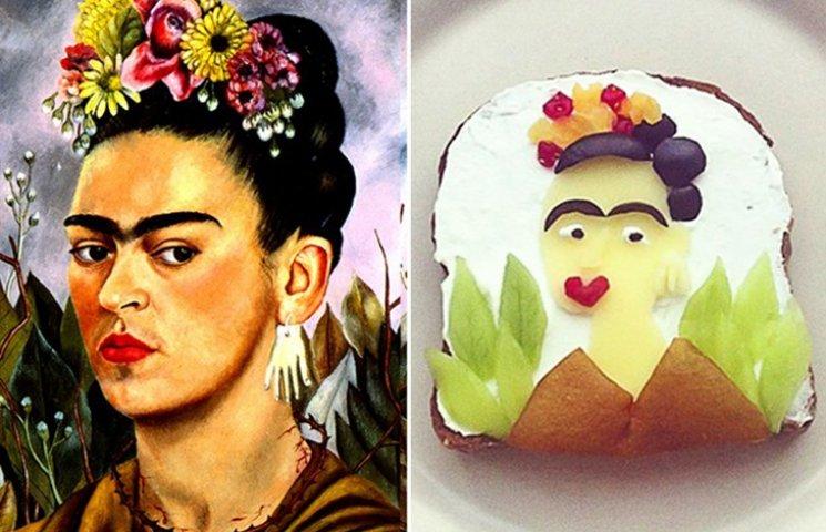15 известных картин, которые нарисовали на бутербродах и съели