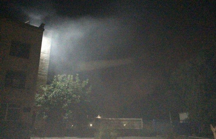 Вночі Кременчук на Полтавщині оповиває непроглядний смердючий туман